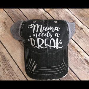 Accessories - 🌲5/$25 Mama Needs a Break Trucker Hat